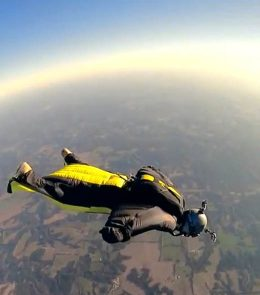 HALO wingsuit jump
