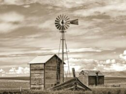 Old Windmill by pump house